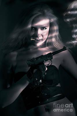 Hiding Photograph - Sexy Woman Assassin by Jorgo Photography - Wall Art Gallery