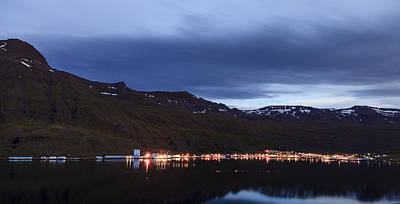 Sky Photograph - Seydisfjordur In Iceland At Night by Alexey Stiop