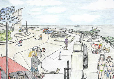 Lowestoft Painting - Seymour Butt At Ness Point Lowestoft by Steve Royce Griffin