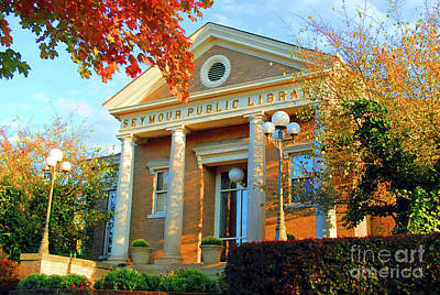 Octoberfest Photograph - Seymour Public Library by Jost Houk
