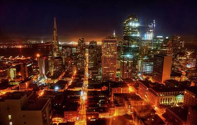 Photograph - Sf Gotham City by Peter Thoeny