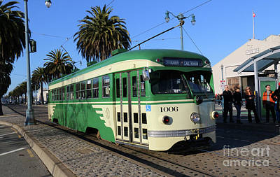 Photograph - Sf Muni Railway Trolley Number 1006 by Steven Spak