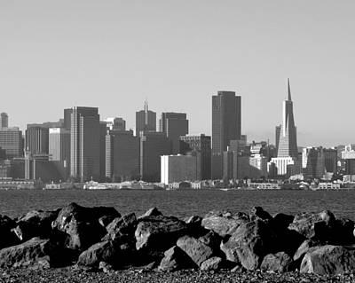 Photograph - Sf Skyline  Bw by Dean Ferreira
