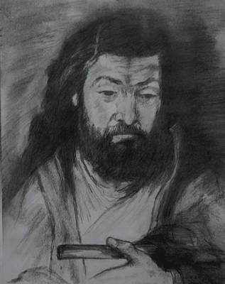 Tablou Drawing - Sfantul Simon by Covaliov Victor