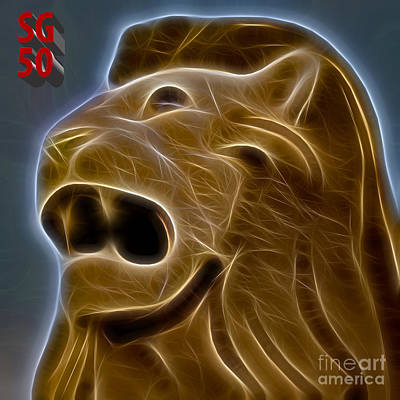 Digital Art - Sg50 Merlion by Ray Shiu