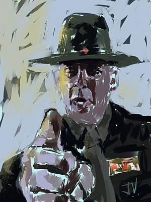 Digital Art - Sgt Hartman Of Full Metal Jacket by Jim Vance