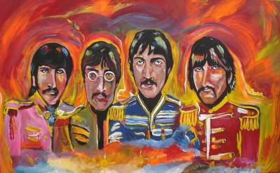 Sgt Pepper Beatles Painting - Sgt Pepper by Colin O neill