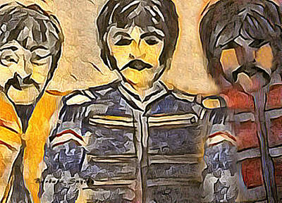 Digital Art - Sgt Peppers Forever by Barbara Snyder
