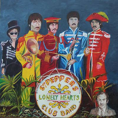 Painting - Sgt Peppers Friends by Martin Williams