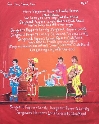 Sergeant Pepper Painting - Sgt. Pepper's Lonely Hearts Club Band Reprise by Jonathan Morrill