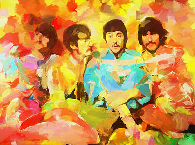 Abbey Road Painting - Sgt. Peppers Lonely Hearts by Dan Sproul