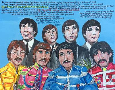 Painting - Sgt.pepper's Lonely Hearts Club Band by Jonathan Morrill