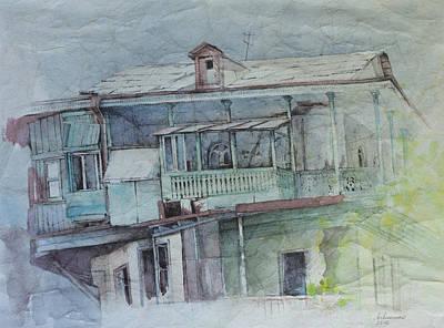 Tbilisi Drawing - Sh. Kavlashvili Str. by Anastasia Logvinenko