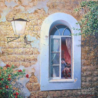 Painting - Shabbat Shalom by Miki Karni