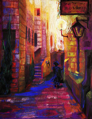 Judaic Painting - Shabbat Shalom by Talya Johnson