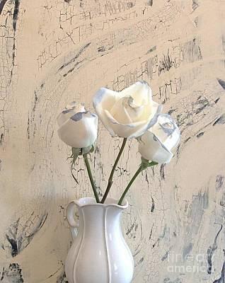 Shabbi Chic Roses Art Print by Marsha Heiken
