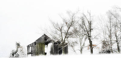 Barns In Snow Photograph - Shabby Barn by Kathy Jennings