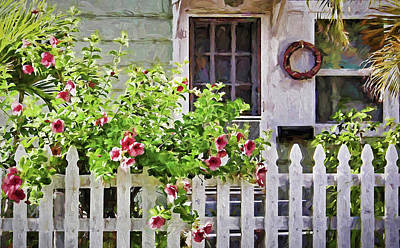 Photograph - Shabby Chic Beach Cottage by HH Photography of Florida