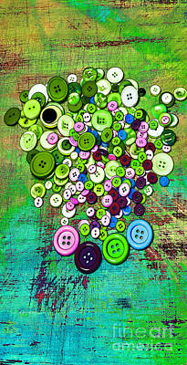 Shabby Chic Buttons Original by Chellie Bock