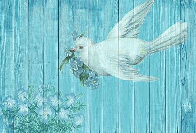 Painting - Shabby Chic Dove Of Peace by Shabby Chic and Vintage Art