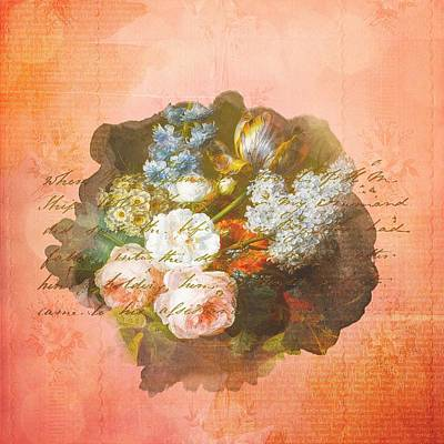 Painting - Shabby Chic Spring Bouquet by Shabby Chic and Vintage Art