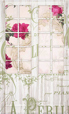 Shabby Cottage French Doors Art Print