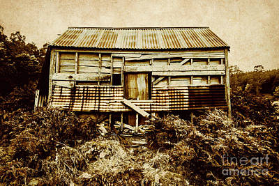 Abandoned House Wall Art - Photograph - Shabby Country Cottage by Jorgo Photography - Wall Art Gallery