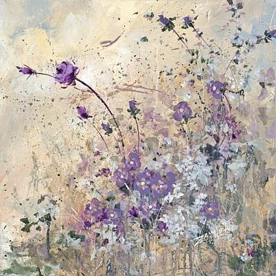 Field Of Flowers Painting - Shabby Eleven by Laura Lee Zanghetti