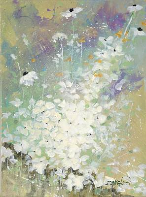 Abstract Impressionism Painting - Shabby Seven by Laura Lee Zanghetti