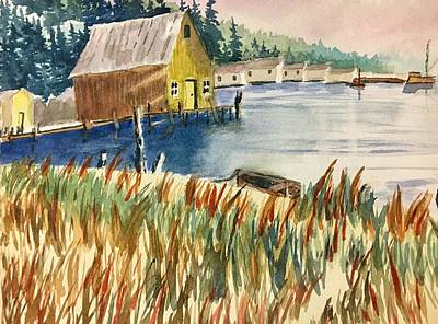 Painting - Shack By The Water by David Bartsch
