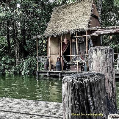 Photograph - Shack In Jungle Cruise by Nance Larson