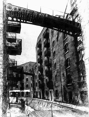 Photograph - Shad Thames Black And White by Dorothy Berry-Lound