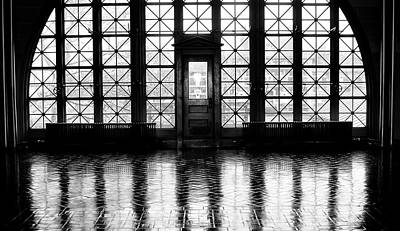 Photograph - Shaddow And Light - Ellis Island Window by Bill Cannon