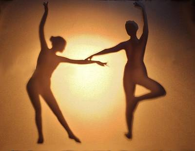 Shadow Dancing Mixed Media - Shaddow Dancers  by Anna Louise Middleton