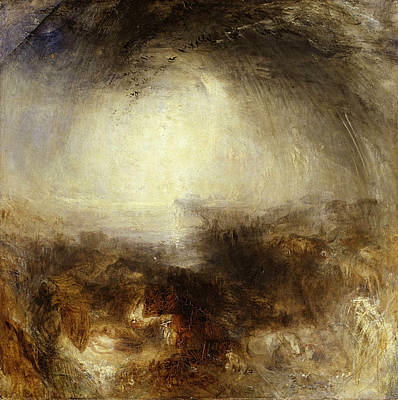 Wintertime Painting - Shade And Darkness,  The Evening Of The Deluge by JMW Turner