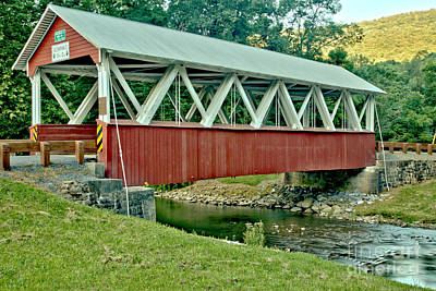 Photograph - Shade Creek St. Mary Covered Bridge by Adam Jewell