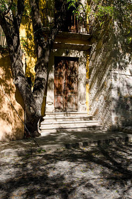 Photograph - Shaded Entrance, Cobbled Road. by Rob Huntley