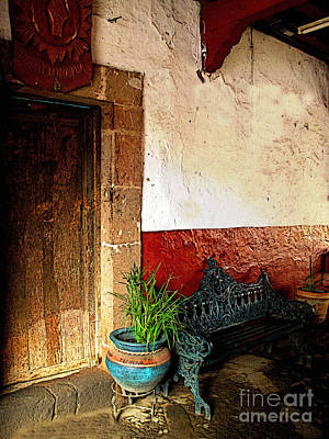 Patzcuaro Photograph - Shaded Entrance by Mexicolors Art Photography