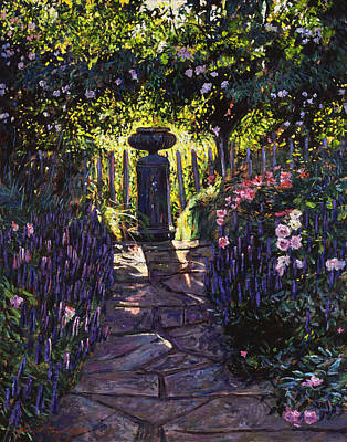 Painting - Shaded Garden by David Lloyd Glover