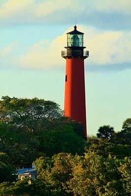 Photograph - Shaded Lighthouse by Catie Canetti