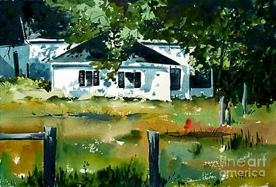 Print featuring the painting Shaded Porch by Charlie Spear