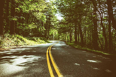 Photograph - Shaded Winding Oregon Road  by Anthony Doudt