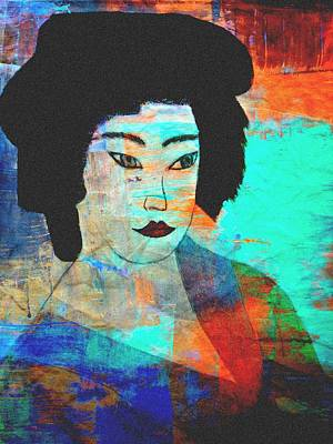 Japanese Geisha Girls Painting - Shades Of A Geisha by Kathy Bucari