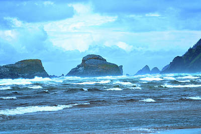 Photograph - Shades Of Blue Cannon Beach by Kathy Kelly