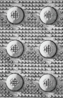 Photograph - Shades Of Gray Dots Portrait Edition by Tony Grider