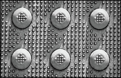 Photograph - Shades Of Gray Dots With Border by Tony Grider
