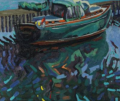 Painting - Shades Of Green Sails by Phil Chadwick
