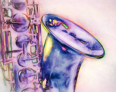 Violet Photograph - Shades Of Jazz Two by John K Woodruff