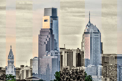Philadelphia Scene Digital Art - Shades Of Philadelphia by Bill Cannon