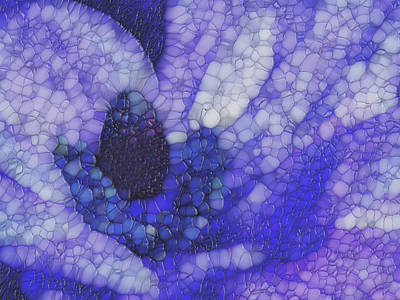 Shades Of Purple And Blue Art Print by Jack Zulli